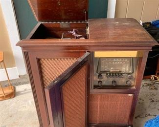 $150. Not sure if it works but it would be awesome to turn into a blue tooth radio/bar.  You can  make a Don Draper playlist and ask Alexa how to make an Old Fashioned! (Don't make an old fashioned - they are not good.)