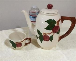 Franciscan Apple Coffee Pot & Cup both for $25