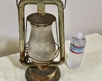 Antique Lantern $25 Embossed globe glass
