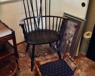 Antique Windsor Chair $125; stool $22