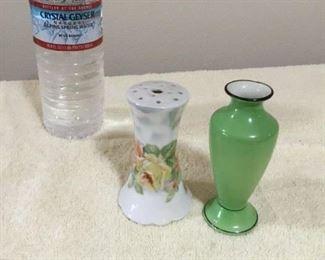 Vintage Dresser Hat Pin Holder $15; Vase $8
