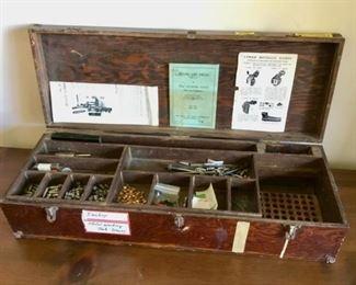 Vintage footlocker box $40