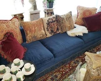 Fabulous Sofa lounge..with wonderful over the top pillows. Plenty of great carpets.