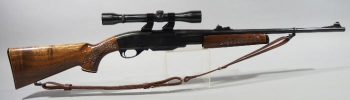Remington Model 760 Gamemaster 30-06 SPRG Pump Action Rifle SN# B7321428, With Weaver Marksman 4x Scope And Leather Sling