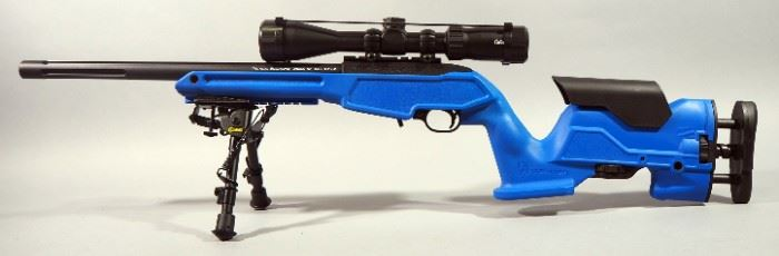 Ruger Model 10/22 .22 LR Rifle SN# 824-79646, With Cabela's 3-9x40 Scope, Caldwell Bipod, Extendable Butt Stock