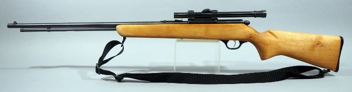 Marlin Model 81 .22 SLLR Bolt Action Rifle SN# Not Found, With Weaver B4 Scope