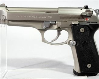 Beretta Model 92FS 9mm Pistol SN# BER227527, With 2 Total Mags, Extra Grips And Paperwork, In Original Hard Case