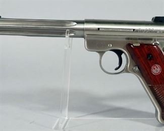 Ruger Mark III Target Hunter .22 LR Pistol SN# 299-11735, With 3 Total Mags, Scope Rail And Paperwork, In Original Hard Case