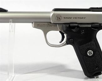 Smith & Wesson Model SW22 Victory .22 LR Pistol SN# UDT4035, With 4 Total Mags, Scope Rail And Paperwork, In Original Box