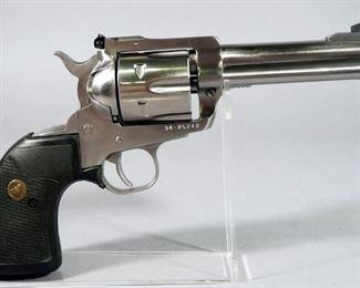 Ruger New Model Blackhawk .357 MAG 6-Shot Revolver SN# 34-25240, With Speed Loader And Paperwork, In Hard Case