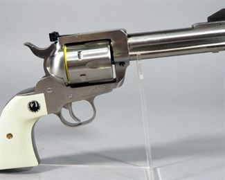 Ruger New Model Blackhawk .45 Cal 6-Shot Revolver SN# 521-34591, With Extra Cylinder And Paperwork, In Original Hard Case