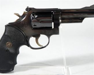 Smith & Wesson Model 19-3 .357 MAG 6-Shot Revolver SN# 9K19860, With Nylon Holster, 2 Speed Loaders, Speed Loader Pouch And Extra Grips, In Hard Case