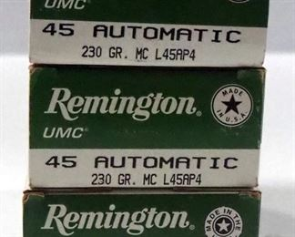 Remington 45 Auto Ammo Approx 150 Rds