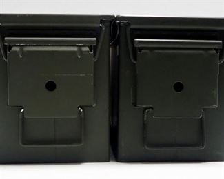 Metal Ammo Cans, Qty 2