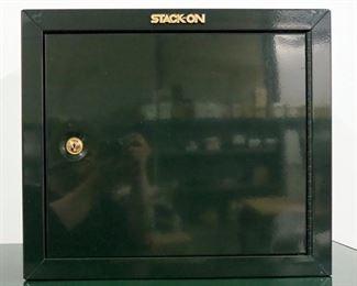 "Stack-On Single Door Steel Gun Locking Handgun Cabinet Model GCG-900 With Keys, Includes 2 Interior Shelves, 18""H x 21""W x 10""D And Dehumidifier Rod"