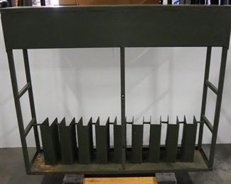"""Steel Military Style Long Arm Rack, Holds 9 Firearms, 43.5"""" H x 51"""" W x 12"""" D"""