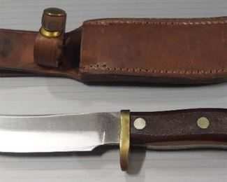 """3 Fixed Blade Knives Includes Linder And Schrade 6.25"""", 5.25"""" And 4"""" Blades, All in Leather Sheaths"""