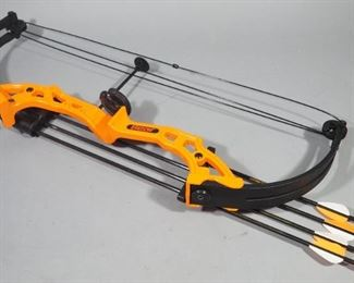 Bear Brave Compound Bows With Quivers, 4 Arrows Each, And Whisker Biscuits, Qty 2