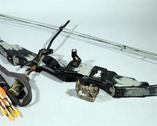 """PSE Fire-Flite Express Compound Bow 55-70 lb Pull, 24"""" Draw With Quiver And 6 Arrows"""
