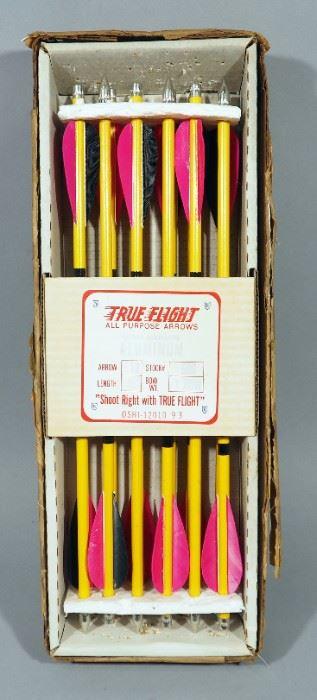 """True Flight 15"""" Aluminum Arrows, Qty 12"""