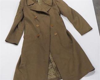 Vintage Military Wool Overcoat