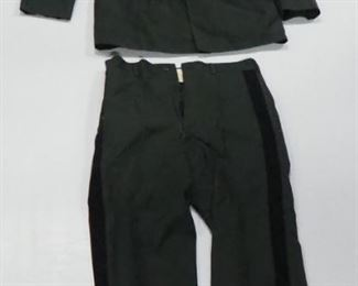 Vintage Military Uniform, Includes Jacket Size 42 And Trousers Size 35