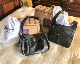 """BRIGHTON"" Genuine Leather Handbags in Orig. Boxes and Cloth ""BRIGHTON"" Storage Bags"