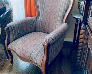 Victorian upholstered chair.