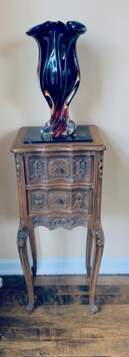 Repro 2 drawer table.