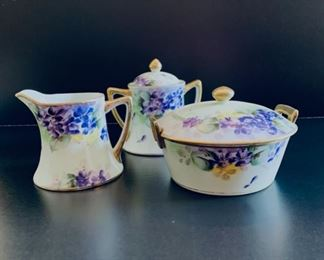 Set of Nippon china cups, saucers and lunch dish not shown.