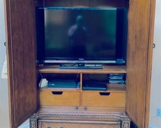 Inside of cabinet.