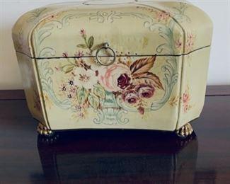 Wood dresser jewelry box.