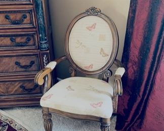 French style upholstered chair.
