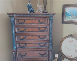 Baroque style tall chest.