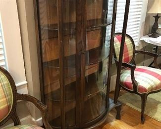 Curved Front China Cabinet
