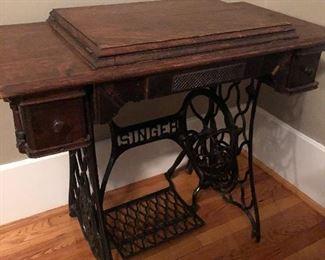 Victorian Oak Sewing Machine