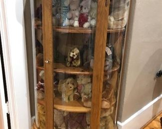 Victorian Style Curved Front China Cabinet