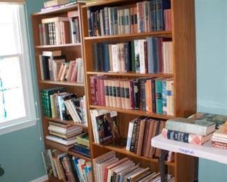 bookshelves in office room