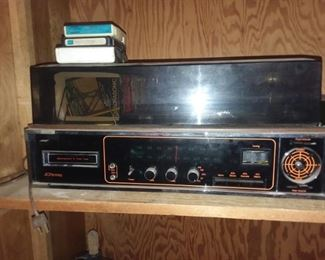 8 track stereo with turn table and 4 speakers