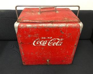 Vintage 50's Coke Cooler with Tray