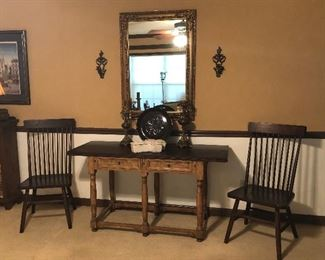 """Entry/Sofa/Dining Table... Split Top Fold out to make the table 42"""" X 60"""" has four drawers..."""