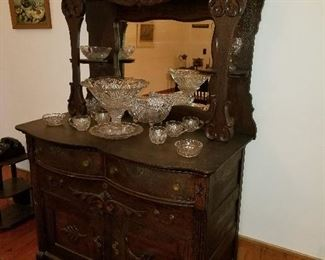 Lot #2  Antique Victorian Server/ Buffet $600 (43Lx23Wx75H)