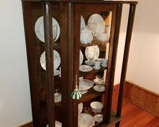 Lot  #3  Early American Curio Cabinet $450