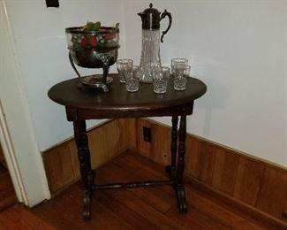 Lot #4  Early American Side Table $75