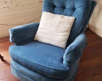 Lot #17  Blue Swivel Chair $50