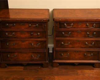 32. Pair of Chests with Symmetrical Veneer