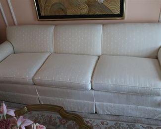 "2  off  white  3 cushion  sofa  sofa  is  93""  Price  is  295.00"