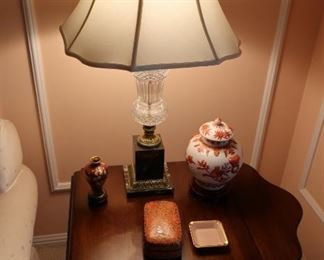 7  lamp  with  black marble  base