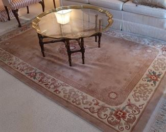 10  chinese  rug   5'10  x  9'  price  is  100.00    ( not the coffee  table)