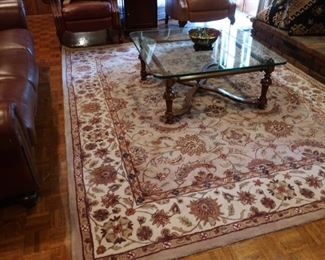 "40   Kingsley house wool  rug  9'8""  x   7"" 10""   Price  is 200.00  (  not  the  table)"